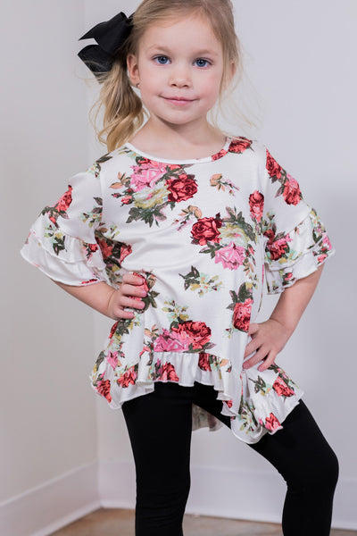 smell the flowers toddler top