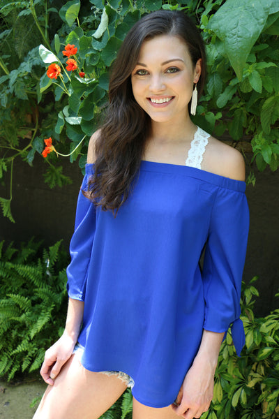 crowd pleaser top-blue