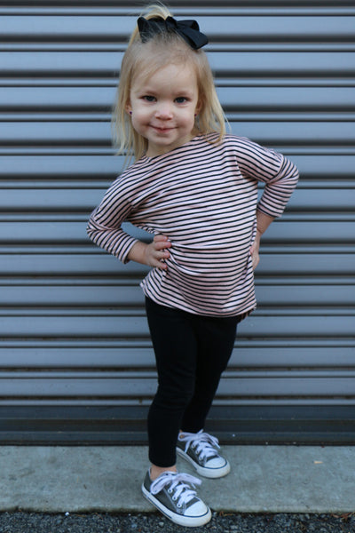 toddler hi/lo striped top