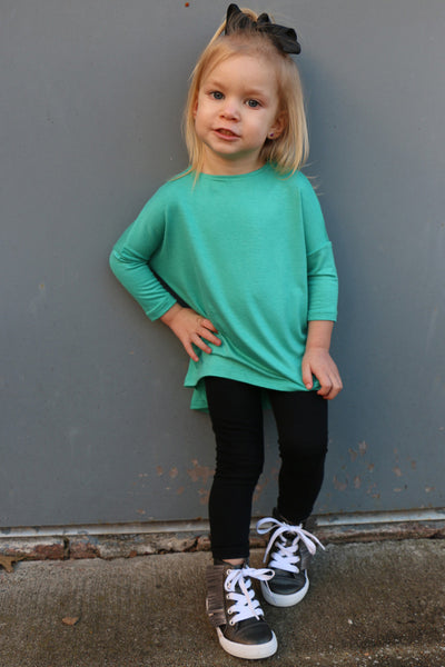 toddler hi/lo top-seafoam