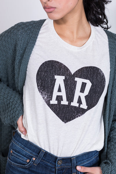 initial heart arkansas tee