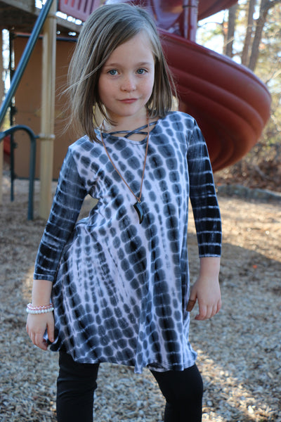 across the playground toddler dress-tie dye