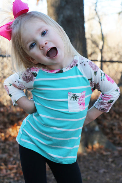 toddler flower power tee