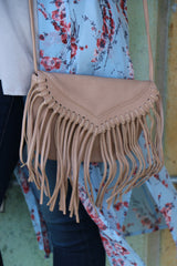 fringe cross body-blush
