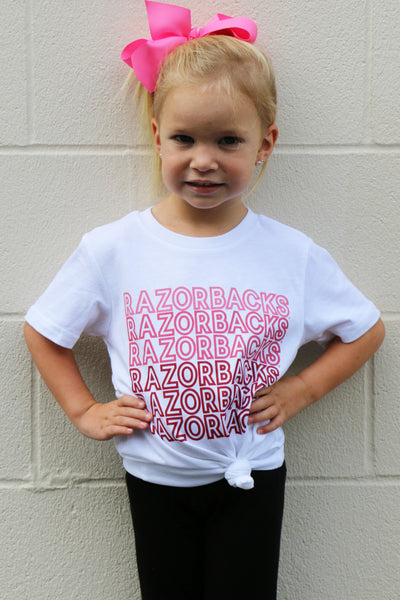 repeat razorback kids tee