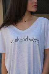 weekend wear vneck tee