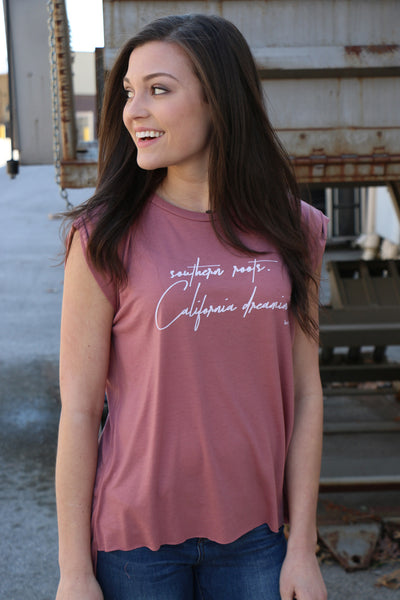 southern roots cuff tee