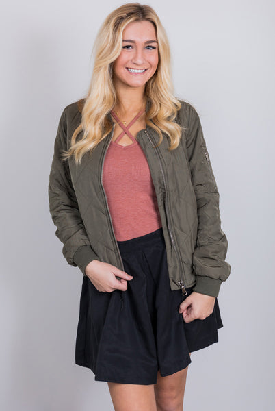 follow your destiny olive bomber