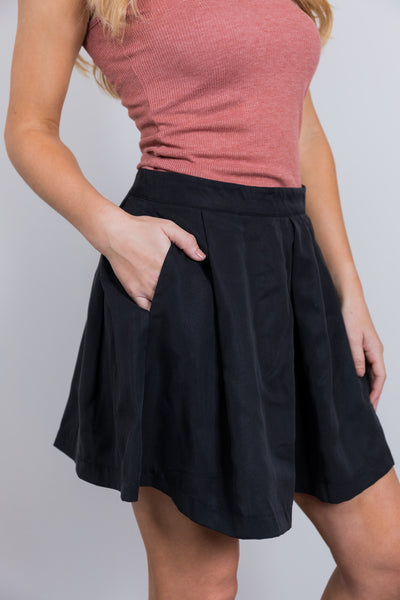 double shot of espresso skirt-black