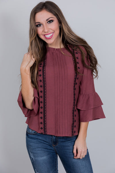 wine time blouse
