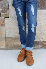 girls yummy distressed jeans