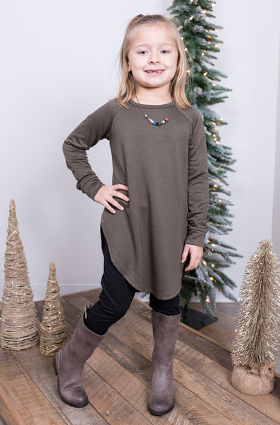 just like mom olive girls top