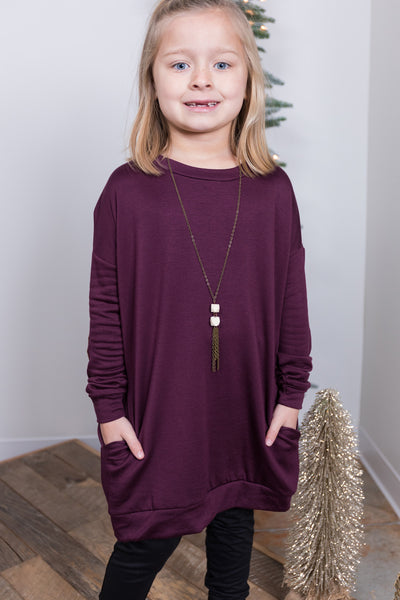 plum perfect girls top