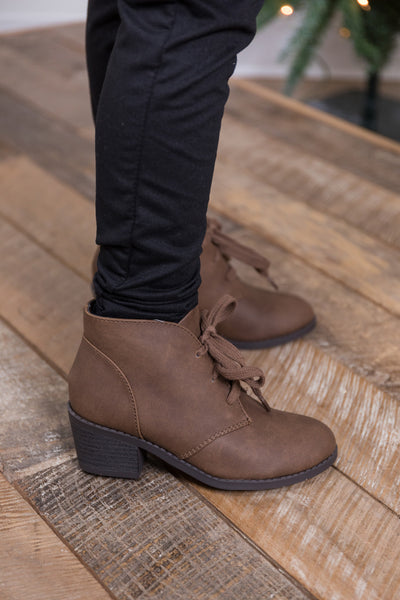 girls ripley bootie-light brown