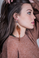 harton earring - brown