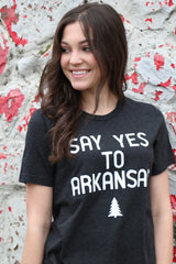 say yes to arkansas tee