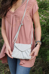 elderflower crossbody-steel