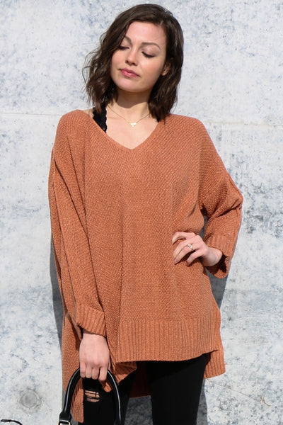 winter warmth sweater-clay