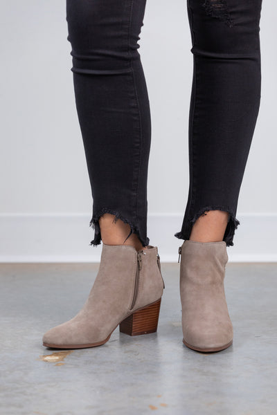 river new taupe booties