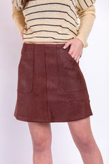 can't live without it skirt-burgundy