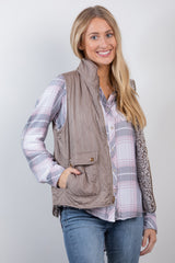 a walk in the park vest-chestnut