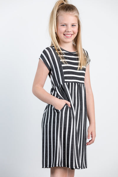 the perfect stripe girls dress