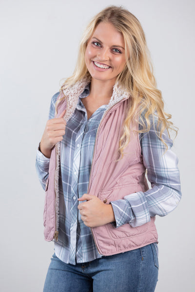 a walk in the park vest-mauve