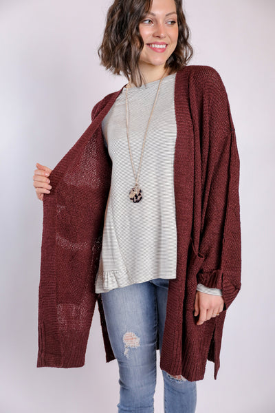 exactly what I needed cardigan - red bean
