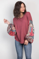 gone gypsy puffy sleeve top