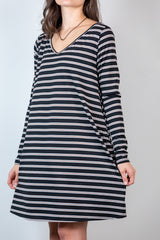 perfect season v-neck dress