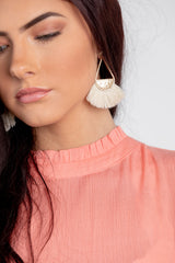 cully earring - ivory