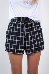 on the border printed shorts