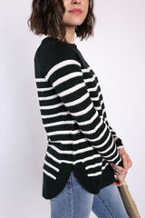 cozy holidays striped sweater