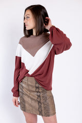 a step up top - maroon