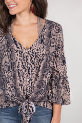 not so simple snake print top
