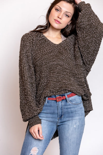 warm fuzzy feelings sweater-mocha