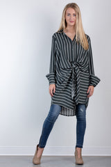 moving on up striped tunic