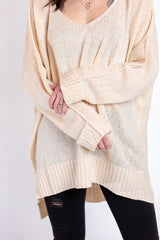 winter warmth sweater-cream