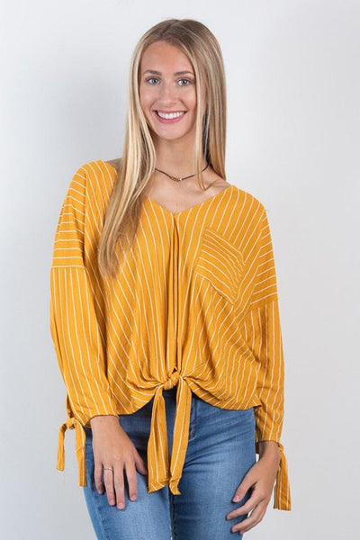 going for gold knot top