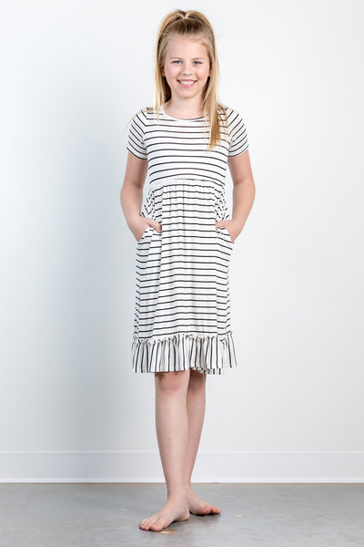 stripes and slushies girls dress