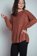 can't go wrong sweater-brick