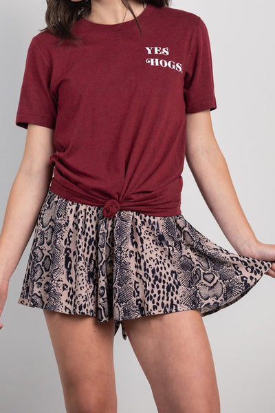 not so simple snake print shorts