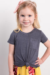 basic toddler tee-washed black