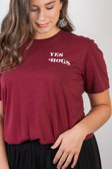 yes hogs rally tee