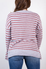 free at the moment chenille sweater-silver