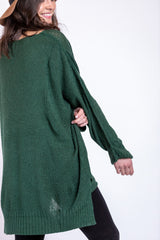 winter warmth sweater-hunter green
