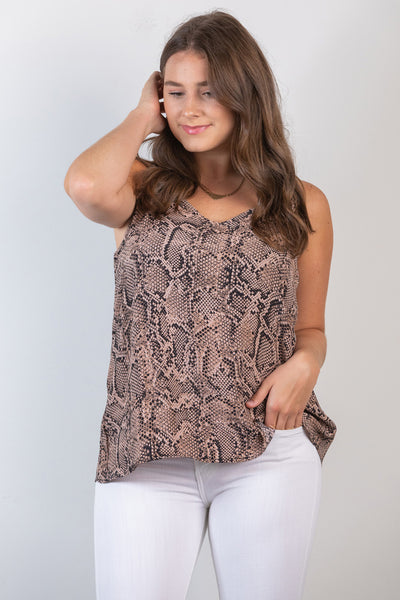 new york nights printed cami-mocha