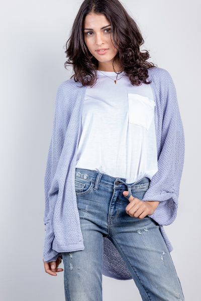 season to season cardi-chambray