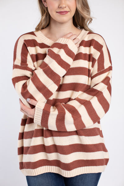 earth tones knit sweater