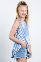 sandy toes striped top - blue